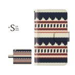 手帳型ケース iPod TOUCH 5 6 / ニット風 デザイン TYPE1 for iPod TOUCH 第5 6世代 手帳 ケース カバー