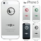 iPhone5C ケース アイフォン5c カバー アップルマーク/ スコープ 照準 スナイパー ライフル