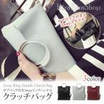 レディース 小物 バッグ 鞄 クラッチバッグ ショルダーバッグ ハンドバッグ サブバッグ付き 合皮 PUレザー バッグインバッグ B5サイズ 3way////