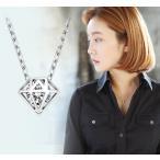 ネックレス ダイヤモンドモチーフ 一粒キュービックジルコニア きらきら 上品 記念日 誕生日 彼女 妻 ギフト プレゼント シルバー925