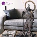 イスム S-Class 毘沙門天(イSム 毘沙門天立像 びしゃもんてん 仏像 彫刻 置物 芸術 アート 美術品 高さ59cm) メーカー直送