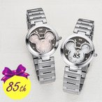 ショッピングミッキー ミッキー85周年記念 フェイスウォッチ(シリアルナンバー入り腕時計/レディース/メンズ)【無料ラッピング対応可】