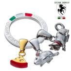 SILVER MIRCO シルバーミルコ イタリア製 チャームキーリング・ネズミとネコのレース SM0003【ギフト対応無料】