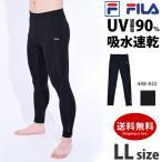FILA フィラ メンズ ランニングタイツ コンプレッションウェア 10分丈 レギンス インナー UVカット 吸水速乾 水陸両用 M/L/LL 448922 ゆうパケット送料無料