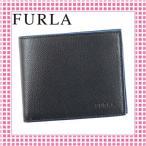 Yahoo!綺麗屋さんフルラ FURLA 二つ折り財布 サラサラ手触り MAN APOLLO-827046-PQ37-ブラック/ONYX