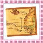 プリマクラッセ PRIMACLASSE コンパクト二つ折り財布 地図柄 GEO CLASSIC BVW103-キャメル ブラウン