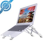 ショッピングノートパソコン MEKO ノートパソコンスタンド 折り畳み式 PCスタンド ラップトップ 角度調整可 軽量 iPad タブレットノートPC台 排熱 エルゴノ