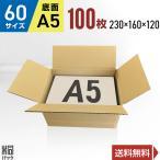 【法人限定商品】ダンボール箱60サイズA5(段ボール箱)100枚 便利線入り(外寸:230×160×120mm)(3ミリ厚)※代引き不可※