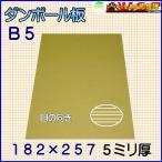 A段(5ミリ)B5サイズ ダンボール板(ダンボールシート)100枚