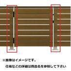 YKKAP ルシアスデッキ門扉A01型 デッキ門扉用柱(2本で1組) ベースプレート施工(控え金具付き) (受用)中柱+(吊元用)中柱 T100 ウッ