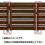 YKKAP ルシアスデッキ門扉A02型 デッキ門扉用柱(2本で1組) ベースプレート施工(控え金具付き) (受用)中柱+(吊元用)中柱 T80 ウッド