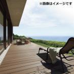 リクシル TOEX 樹ら楽ステージ 木彫 間口2.0間×出幅8尺 調整ロング束柱Bセット 『ウッドデッキ キット 人工木 腐りにくく美しい樹脂デッキ』