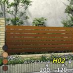 フェンス 外構 おしゃれ YKKAP ルシアスフェンスH02型 本体 T120 木目カラー 『アルミフェンス 柵 H1200mm用』 2017年6月から新仕様