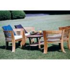ジャービス商事 ロマンティックテーブル4点セット(クッション付) 『ガーデンテーブルセット』 無塗装