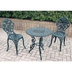 ジャービス商事 アルミ鋳物テーブル 3点セット(中) 『ガーデンテーブルセット』 青銅色