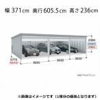 『配送は関東・東海限定』 イナバ物置 ガレーディア GRN-3657SL(基本棟) 豪雪地型 『シャッター車庫 ガレージ』
