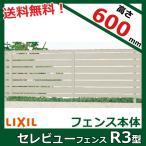LIXIL 新日軽 セレビューフェンスR3型 本体 H=600用 (太横パネル) 【アルミフェンス 柵】