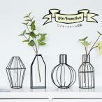 花瓶 ワイヤーフレーム花瓶 ワイヤーフレーム 個性的 オシャレ 北欧スタイル インテリア  花入れ 割れにくい 合成樹脂ガラス容器 オブジェ風 マットな質感 全