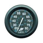 スピードメーター フラッグシップ【ブラック/ブラック・80マイル】 【あすつく対応】 79-895285A04