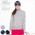 Yahoo!キスオンザグリーンゴルフウェア レディース 星柄ラメジャガードジップアップニット | ゴルフウェア レディース ニット ゴルフウエア ゴルフ かわいい おしゃれ