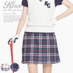 ゴルフウェア レディース ゴルフ スカート 丈長め チェック柄軽量ニットスカート | インナーパンツ一体型