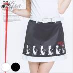 りぼんネコモチーフのモチーフスカート/ゴルフ ウェア レディース 女性用