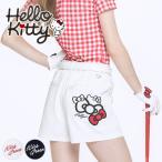 限定HelloKittyコラボ キティちゃんリボン刺繍キュロット/ゴルフ ウェア レディース 女性用