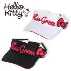 限定Hello Kittyコラボ★キティちゃんリボン付きサンバイザー/ゴルフ ウェア レディース 女性用 Sサイズ