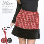 裾ファー付きラメツイードスカート/ゴルフ ウェア レディース 女性用