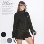 ケーブルニット袖ファーブルゾン&ショートパンツ上下セット/ゴルフ ウェア レディース 女性用