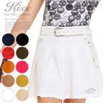 ポーチ付きボックスプリーツスカート/ゴルフ ウェア レディース 女性用