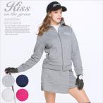 ブロックキルトジャケット&スカート上下セット/ゴルフ ウェア レディース 女性用