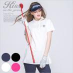 チュニック丈鹿の子ポロシャツ/ゴルフ ウェア レディース 女性用