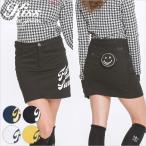 ピース刺繍立体ポケット付きプリントスカート/ゴルフ ウェア レディース 女性用