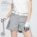 グレンチェック柄多機能ショートパンツ/ゴルフ ウェア レディース 女性用