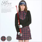 チェック柄シャツ風インナー×キュロットセット/ゴルフ ウェア レディース 女性用