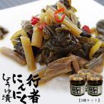 行者にんにく醤油漬け180g(3個セット)≪北海道産行者ニ