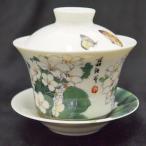 台湾茶器 蓋碗 油桐花柄 (新太源製)