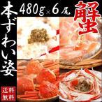 ズワイガニ特大(姿 冷凍 北海道産 ボイル)480g×6尾(3kg)送料無料