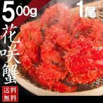 花蟹 - 年末可 花咲ガニ 根室 北海道産 500g×1尾 ボイル花咲ガニ 浜ゆで 花咲蟹 送料無料