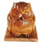 木彫りのふくろうの置物 槐(えんじゅ)の木製 なごみ6
