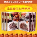 日本一の玉ねぎ産地のカレー「きたみらいのカレー6箱セット」