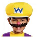 スーパーマリオ ワリオ 子供用 帽子&手袋&ひげ 仮装 3点セット