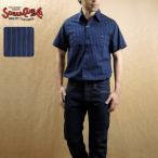 SUGAR CANE シュガーケーン インディゴ染め ブロード ストライプ 半袖 ワークシャツ SC37319