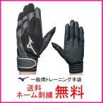 ミズノ(mizuno) トレーニンググローブ 1EJET10109 ブラック(09)【防寒/冬用/手袋/ネーム刺繍無料/大人】