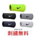 刺繍無料ナイキ スウッシュダブルワイドリストバンド ペア売り NNN05 野球用品