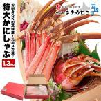 Crab - カニ かに お中元 ギフト 蟹  ポーション 刺身 カット済み 超特大 ズワイガニ 元祖メガ盛 1.5kg 通販 カニ刺し 夏カニ お取り寄せ