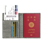 Fintie パスポートケース ホルダー トラベルウォレット スキミング防止 安全な海外旅行用 高級ットカード 航空券 エアチケット (デニムグレー)
