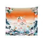 浮世絵 和風 タペストリー 壁掛け 掛け軸 インテリア 150×130cm