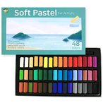 (48色) HASHI ハシ 専門家用 無毒性 ソフト パステル セット - チョーク パステル カpastels For professionals